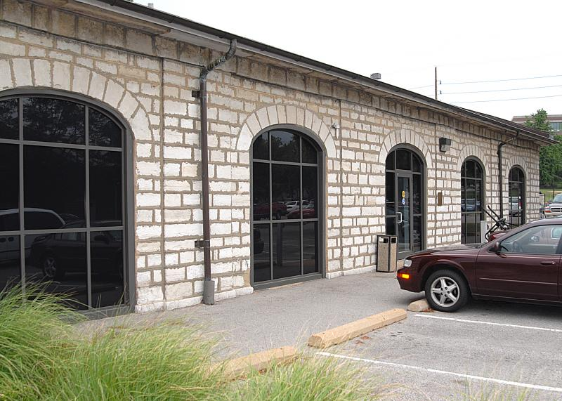 A former coal warehouse now serves as the NGA's fitness center. While it's exterior is preserved, the inside is all new.