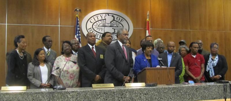 African-American elected officials announce that they endorse Rick Stream, a Republican, for St. Louis County Executive. 10/1/14