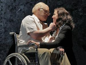 Brian Mulligan as Leon Klinghoffer and Nancy Maultsby as Marilyn Klinghoffer in Opera Theatre of Saint Louis' 2011 production of The Death of Klinghoffer.