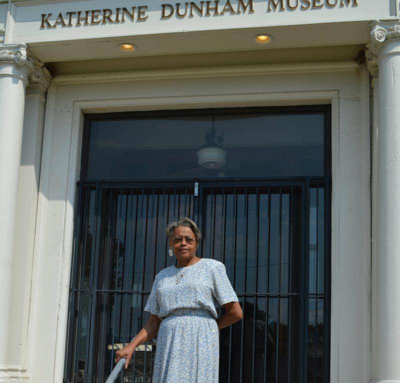 Leverne Backstrom at the Katherine Dunham Museum