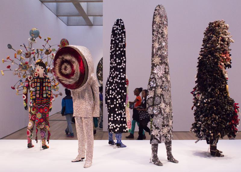 Nick Cave's Soundsuits are assembled from objects found throughout the country