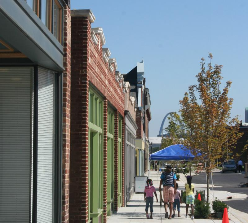 Reopening what had been a pedestrian mall on 14th Street brought new opportunity to Old North St. Louis.