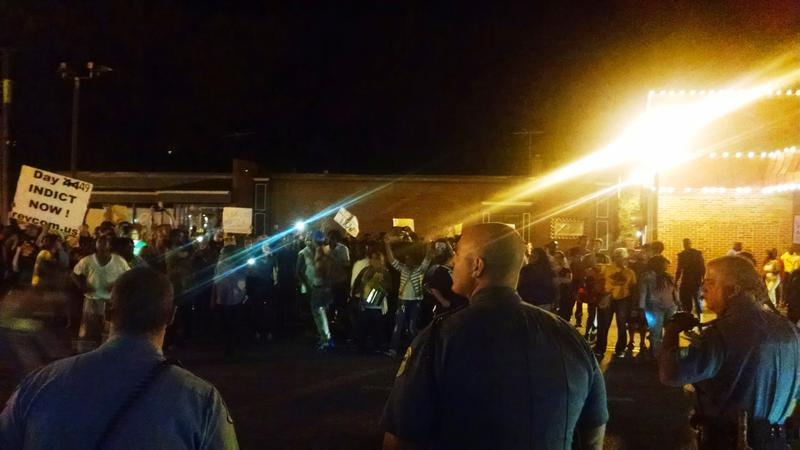 Police are facing increasingly hostile, anti-law enforcement crowds as protests continue in the St. Louis area.