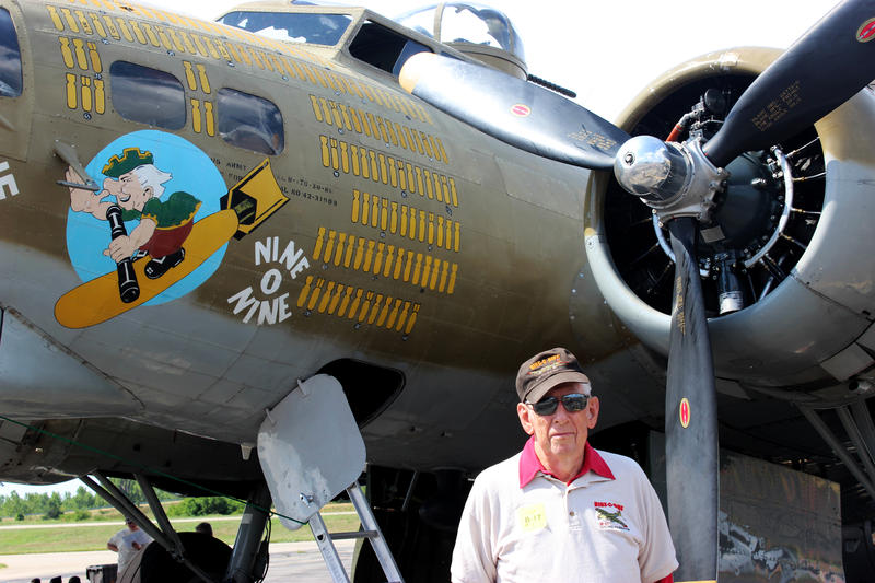 Col. Basil Hackleman flew 30 missions in B-17 bombers before training future pilots. He is the original pilot of the Nine-o-Nine.