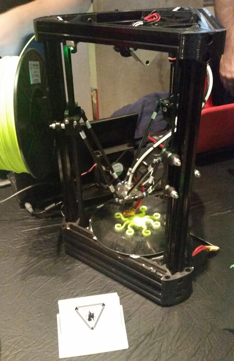 Griffin 3D is a local start-up that makes original design 3D printers. Here, the Griffin Pro Mini, prints an octopus at the Science Center's First Friday event in November.