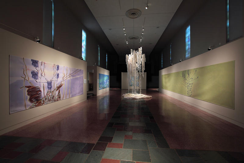 An overview of Rebecca Niederlander's installation at the Museum of Contemporary Religious Art at Saint Louis University in St. Louis.