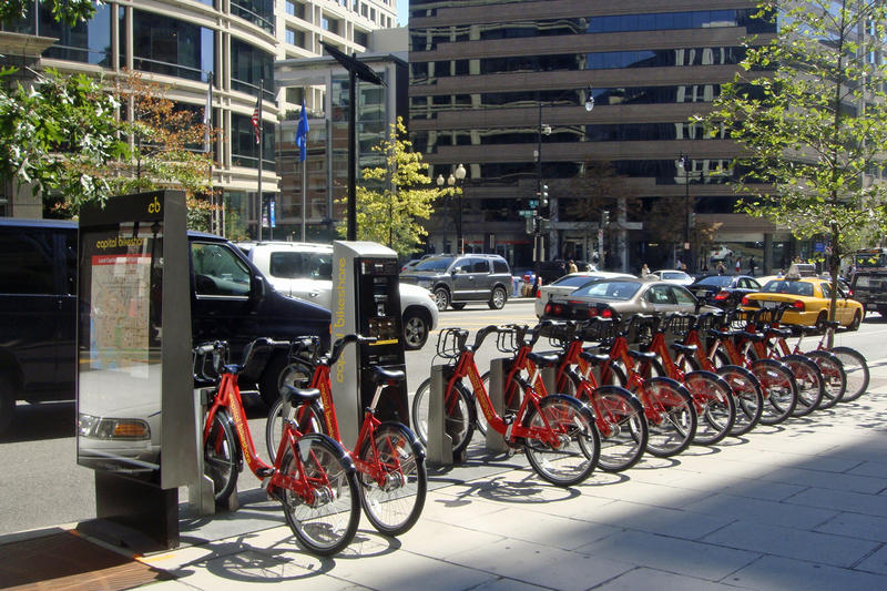 A feasibility study on a potential St. Louis bike share system just released its results, noting while there is big demand here, it is less than that in a city like Washington, D.C. (pictured here).
