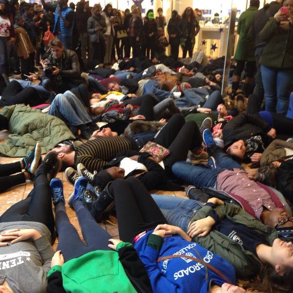 St. Louis Galleria die-in 11-28-14. Part of the Black Fri