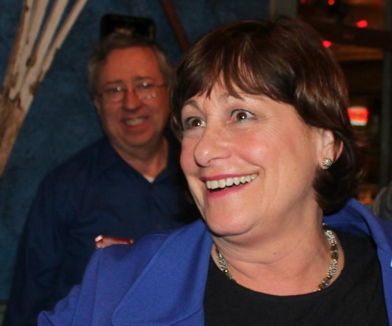 Jill Schupp at her victory party Tuesday night.