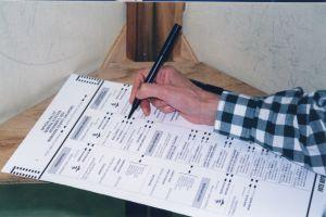 Stock photo of paper ballot