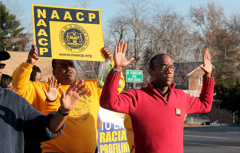 NAACP President Cornell William Brooks leads first day of march to Jefferson City on Saturday, November 29, 2014.