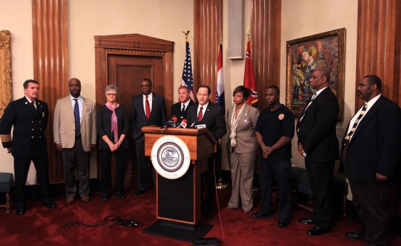 Mayor Francis Slay announces an initiative to increase the diversity of the public safety department