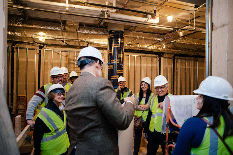 The Pulitzer Arts Foundation gave a tour of ongoing renovations Nov. 19.