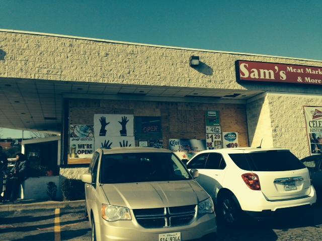 Sam's Meat Market in Ferguson. November 21, 2014