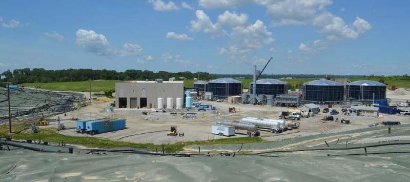 Republic Services spent $55 million to build this leachate pretreatment plant at the Bridgeton Landfill, in order to bring the wastewater into compliance with its disposal permit from the Metropolitan St. Louis Sewer District.