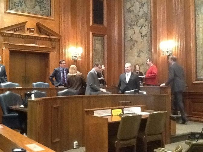 The Missouri General Assembly's Joint Committee on Government Accountability shortly before their meeting Dec. 11, 2014.