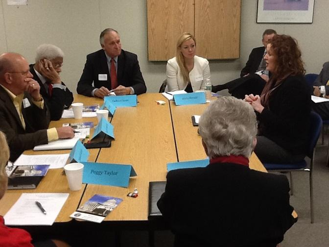 Missouri Charter Public School Commission holds its organizational meeting on Dec. 16, 2014.  Alicia Herald (back row, right) was elected commission chair.