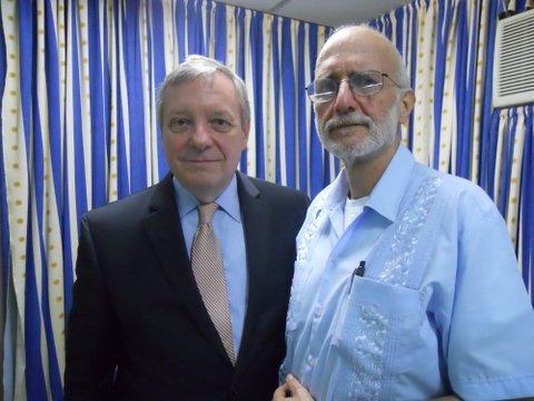 Sen. Dick Durbin met with Alan Gross, a contract worker for the Agency for International Development, in Cuba in 2012. Gross had been imprisoned since 2009.