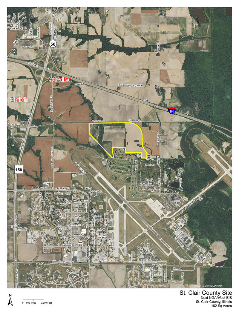 182 acres in St. Clair County just northeast of Scott Air Force Base