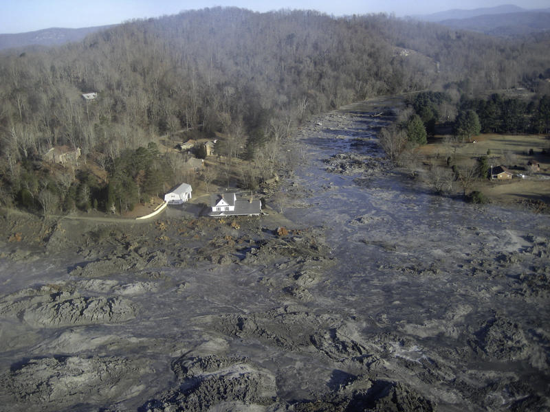 In Dec. 2008, a dike collapsed at TVA's coal-fired power plant near Kingston, Tenn., releasing 1.1 billion gallons of coal ash into the Emory and Clinch rivers and covering about 300 acres of land.