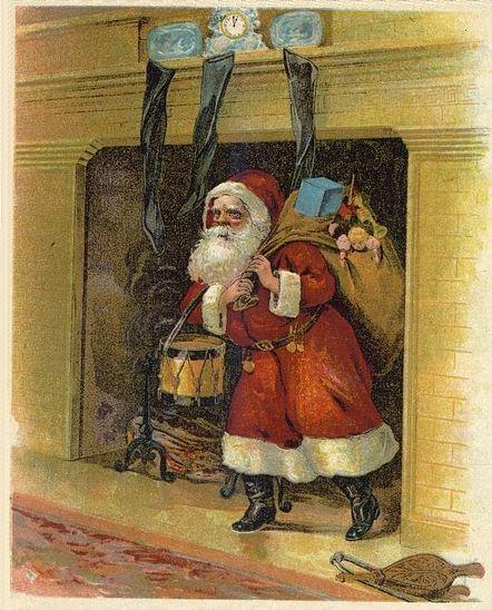 Santa's Arrival, an illustration for Clement Clarke Moore's poem.