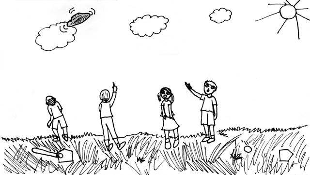 "An illustration by Rachel Liang, who was a fifth-grade student at Twin Oaks Christian School in Ballwin at the time, accompanies ""The Disk in the Sky,"" a story written last year by Sydney Kinzy, who was an eighth-grader at Parkway West Middle School."