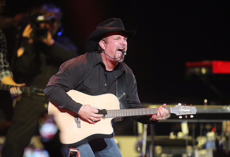 Country singer Garth Brooks performs on Dec. 4, 2014, at the Scottrade Center in St. Louis.