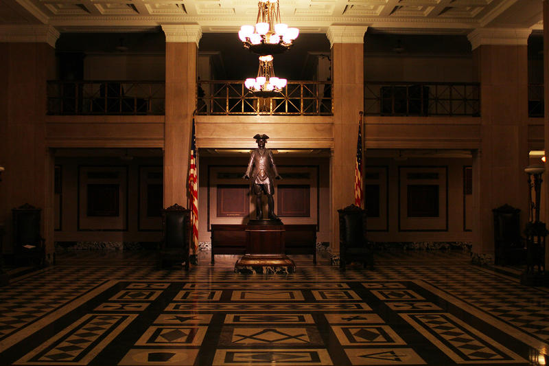 Thomas Jefferson Statue in lobby of New Masonic Temple