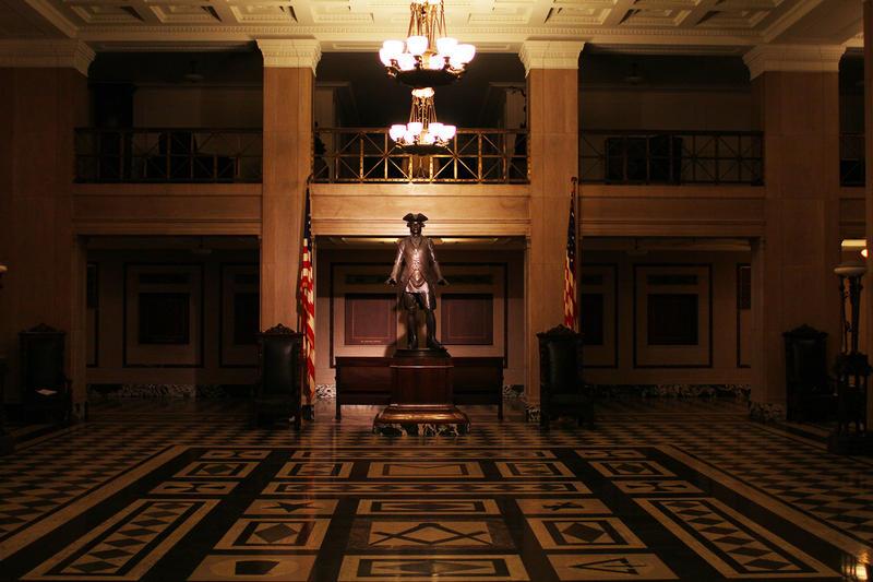Thomas Jefferson Statue in lobby of New Masonic Temple