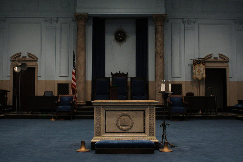 One of three lodge rooms on the third floor in New Masonic Temple