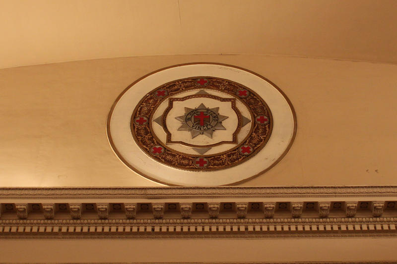 Masonic seal in the commandery in New Masonic Temple