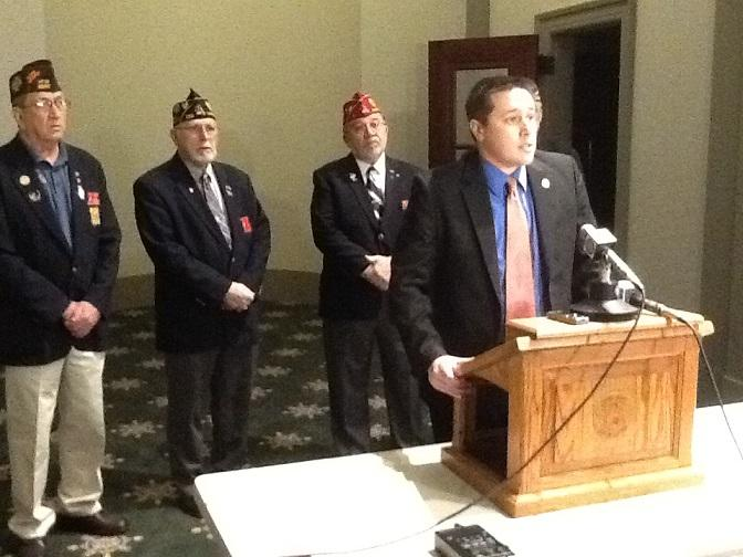 State Sen. Ryan Silvey, R-Kansas City, proposes to expand Medicaid to military vets currently ineligible for coverage.