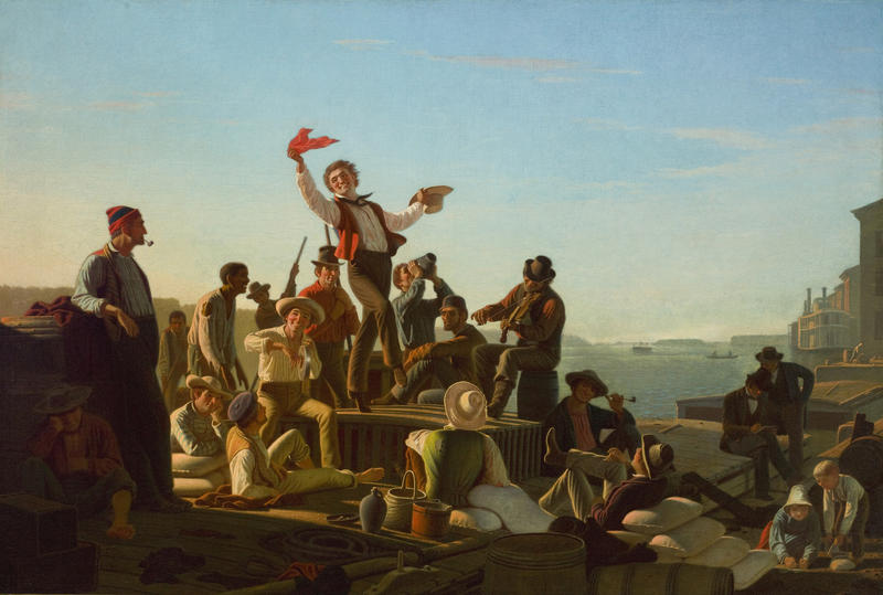 George Caleb Bingham, Jolly Flatboatmen in Port, St. Louis Public Radio