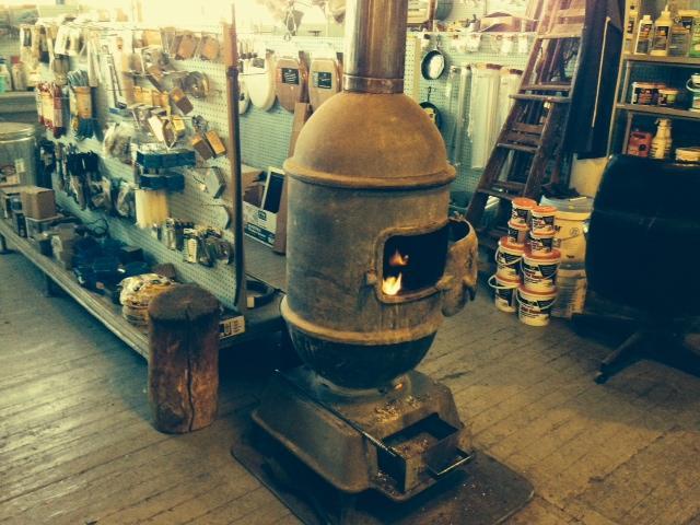 "A woodburning stove is the main source of heat at Marx Hardware & Paint Co. in the Old North neighborhood. The store was founded in 1875 but has been in its ""new"" location since 1881."