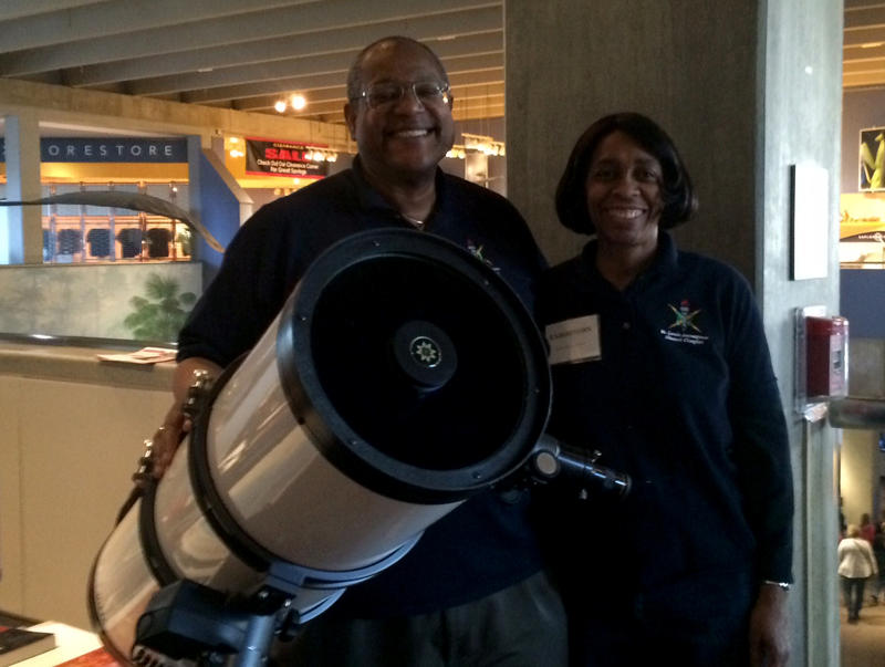 Stan and Sandra Burton manned the National Society of Black Engineers booth at the Minority Scientist Showcase Saturday, January 17, 2015 at the St. Louis Science Center.