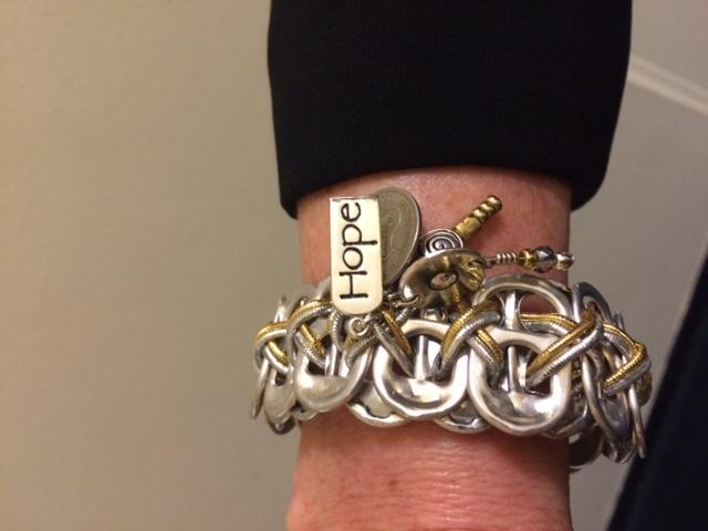 U.S. Rep. Ann Wagner, R-Ballwin, wears a bracelet made to raise awareness of human sex trafficking.
