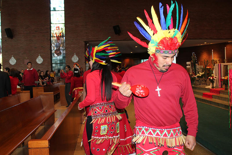 Dancers perform at the Our Lady of Guadalupe celebration at Holy Trinity Parish on Sunday, Dec. 14, 2014.