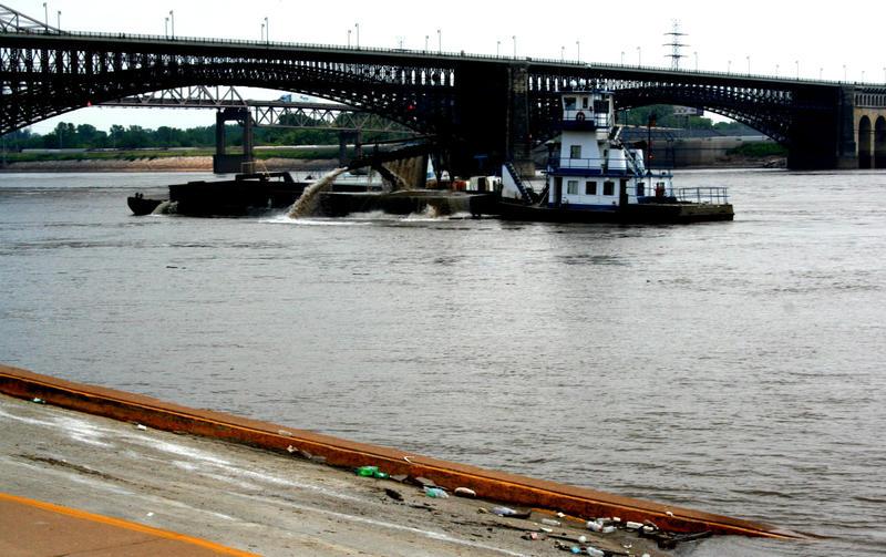 Mississippi River, dredging, Eads