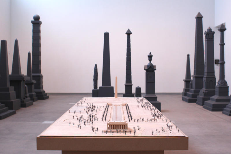 "Sam Durant's ""Proposal for White and Indian Dead Monument Transpositions, Washington, D.C.,"" 2005  Kemper"
