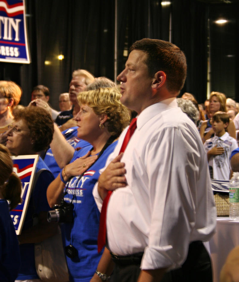 Ed Martin in 2010 at his election watch party when he ran unsuccessfully for Congress