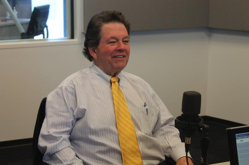 Economist Art Laffer talks to 'St. Louis on the Air' host Don Marsh on Jan. 13, 2015, at St. Louis Public Radio in St. Louis.