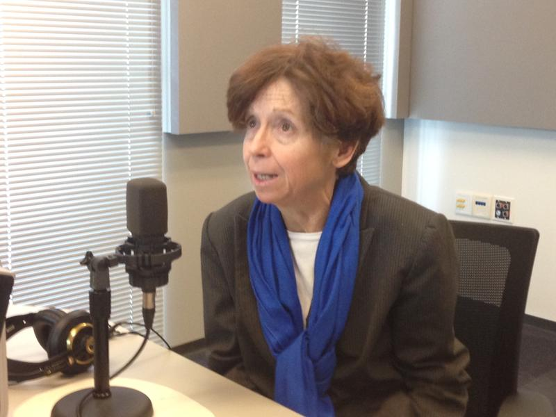 St. Louis lawyer Marie Kenyon discusses her new role leading the Archdiocese of St. Louis' Peace and Justice Commission with 'St. Louis on the Air' host Don Marsh on Jan. 12, 2015, at St. Louis Public Radio in St. Louis.