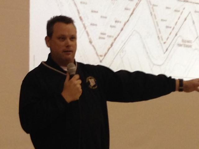 Pattonville Assistant Fire Chief Matt LaVanchy discuses recent data from the Bridgeton Landfill's underground fire, which has been smoldering since late 2010. 01/23/2015