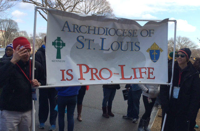 St. Louis had a large contingent at the March for Life in D.C.