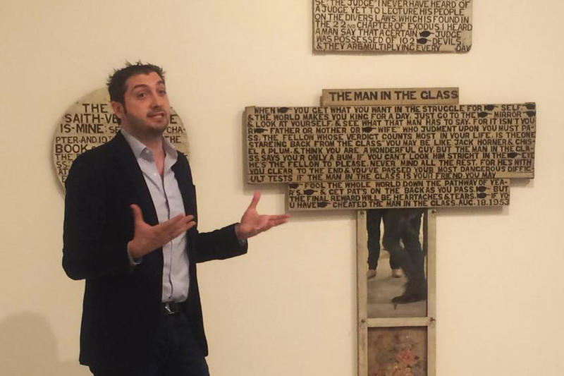 Chief Curator Jeffrey Uslip explains the personal narrative of artist Jesse Howard