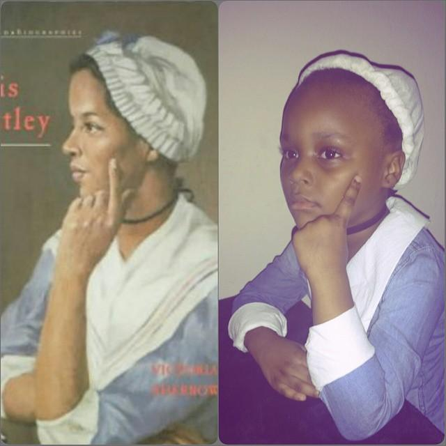 Poet Phillis Wheatley  was one of Ava's favorite people to learn about.