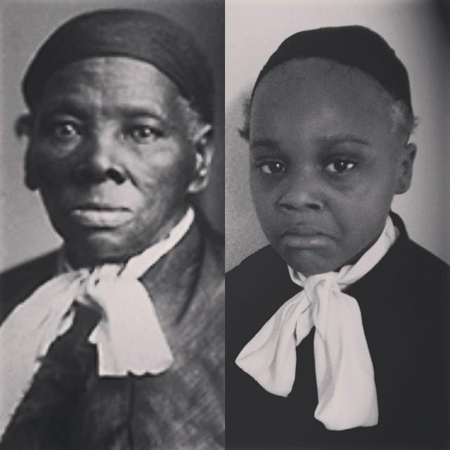 Ava as Harriet Tubman.