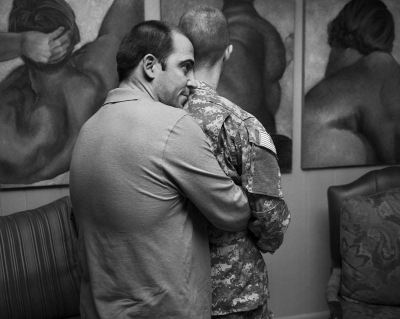 "A photo from Vincent Cianni's ""Gays in the Military"" exhibit."