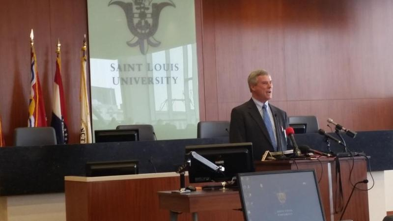 St. Louis County Prosecutor Bob McCulloch speaks at a forum about policing post-Ferguson at Saint Louis University School of Law on Feb. 20, 2015.