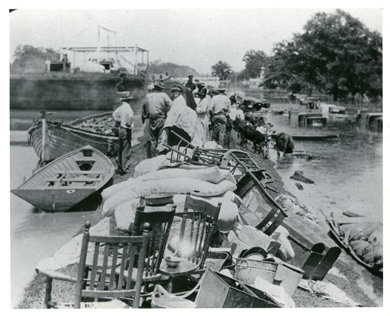 Flood of 1927: In the South, African-American plantation workers were forced to work, shoring up the levees before eventually being evacuated to relief camps where they faced deplorable conditions.